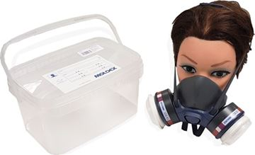Image de 1/2 Masque Bi-Filtre M7002 complet avec box de rangement